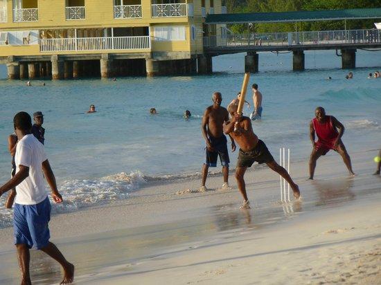 Island Inn Hotel: Beach Cricket!-Pebble Beach-Sundays