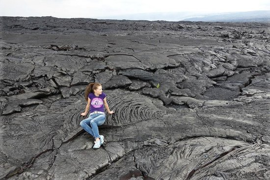 Kalapana Cultural Tours : Pit stop on the half way to the Lava