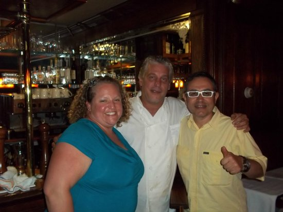Davide : Beverly,Frank the chef and owner,me