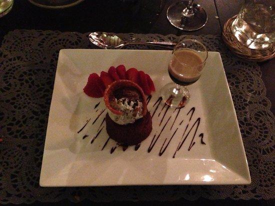 Chalet Fourmiliere: Chocolate fondant pudding