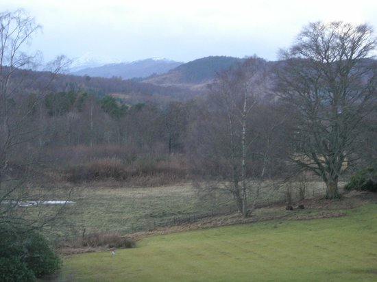 Coul House Hotel: View from our window in our room