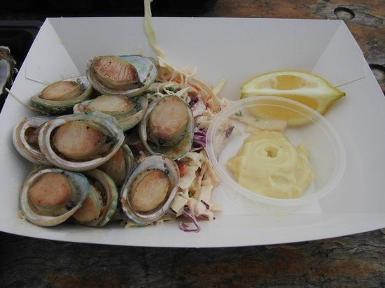 The Oyster Farm Shop : the abalone