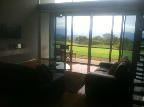 The Bunyip Scenic Rim Resort: our relaxing downstairs area with stunning views