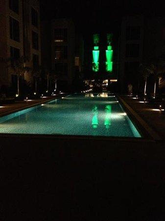 Hard Rock Hotel Goa: pool at night