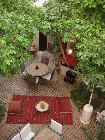 Riad Aguerzame: Innenhof vom Riad
