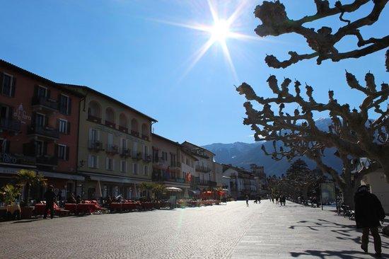 Hotel Schiff-Battello Ascona : Seepromenade