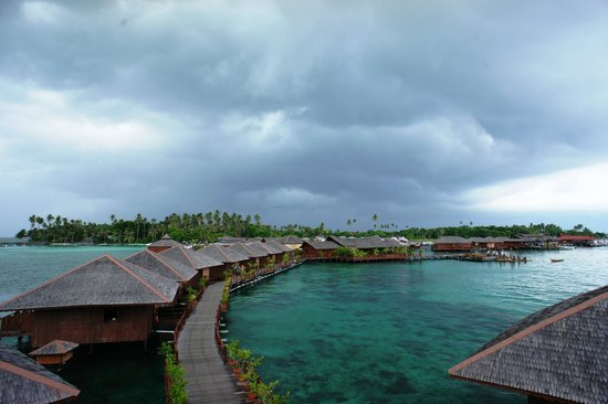 Sipadan Water Village Resort : The view from observation deck