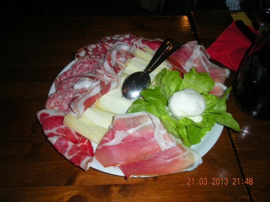 Osteria del Rosso: Typical appetizer