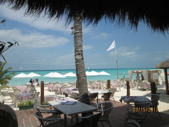Nautibeach Condos: Looking out from the Sunset Grill at Nautibeach