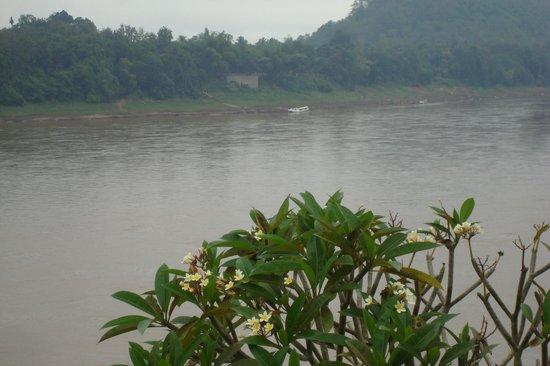 The Grand Luang Prabang Hotel & Resort: Der Mekong liegt zu Füßen