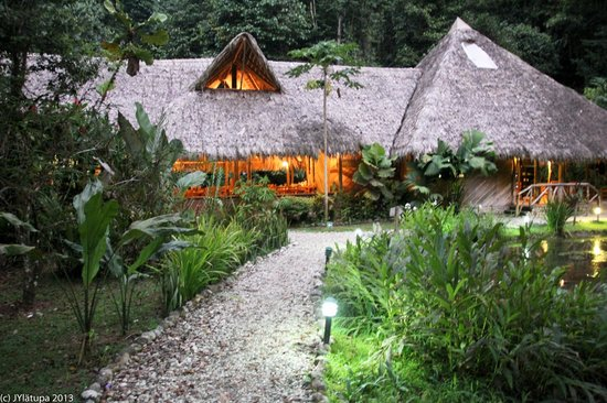 Esquinas Rainforest Lodge: Lodge at dusk