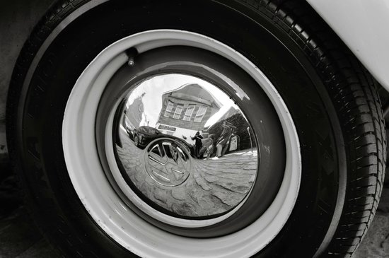 The Haven Takeaway: Reflection in car wheel