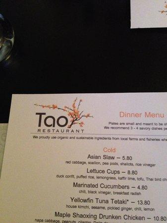 Tao Yuan: menu head