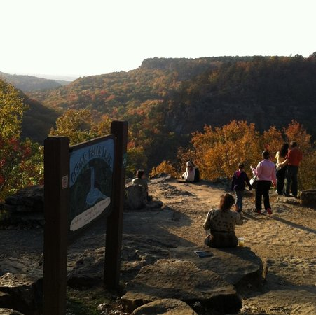 Petit Jean Campground: View from Mather Lodge