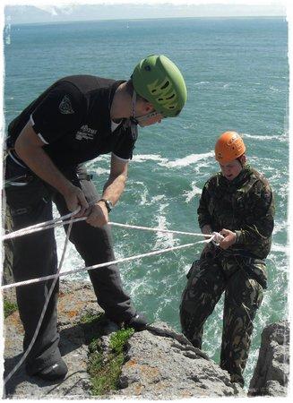 Coast2crag: Abseiling at Newtons Head Pembrokeshire