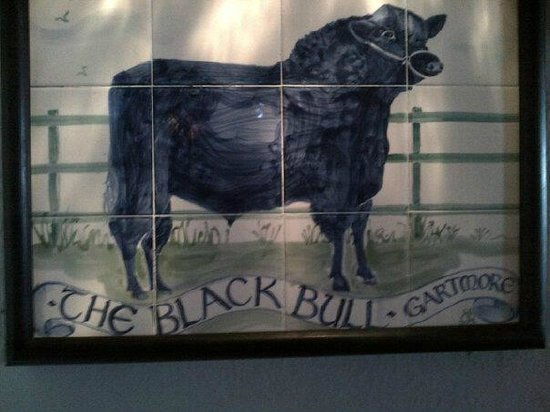 The Black Bull Hotel : Orginal tile picture