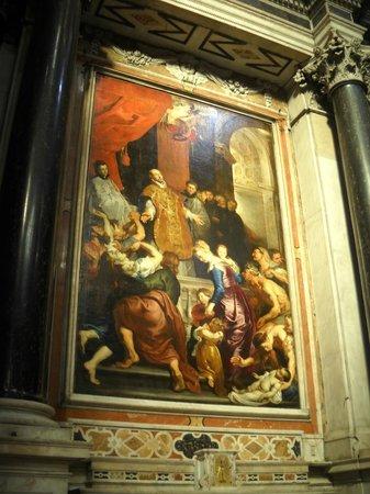 Chiesa del Gesu e dei Santi Ambrogio e Andrea : P. P. Rubens - Sant'Ignazio guarisce un'ossessa