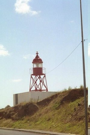 O Farol: The Restaurant is named for this lighthouse, [Farol], which is across the street along the water