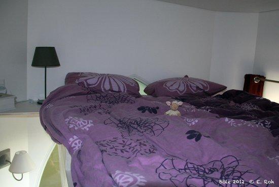 La Tourelle : Lieu de sommeil situé au-dessus du coin salon