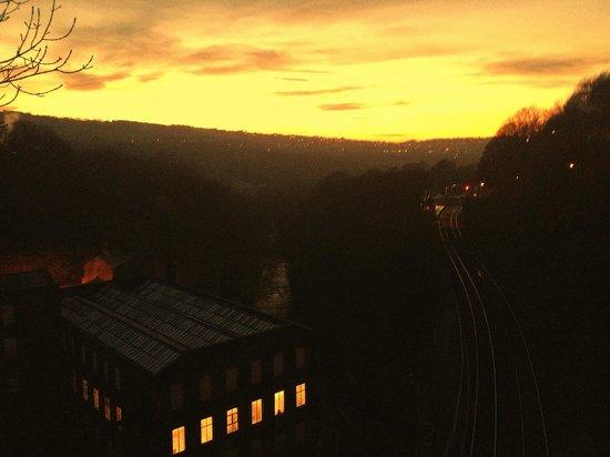 Torr Vale Mill - sunset