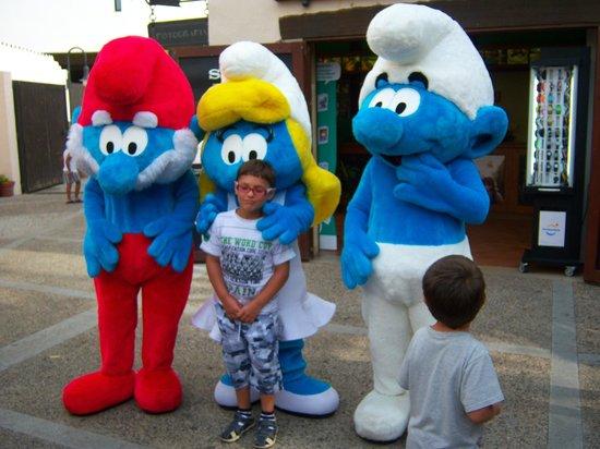 PortAventura Aquatic Park: Mi hijo con los pitufos