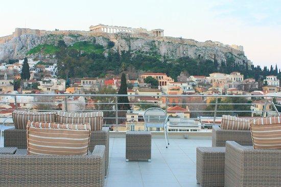 Plaka Hotel: Hotel Roof Terrace