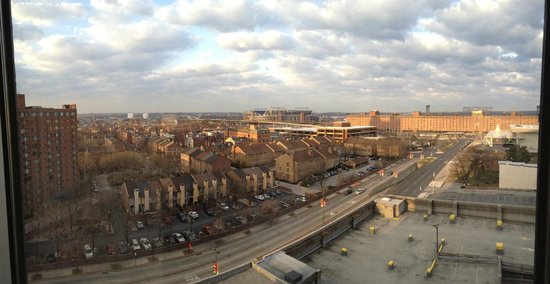 Sheraton Inner Harbor Hotel: View of Camden Yards and Ravens stadium from 1019