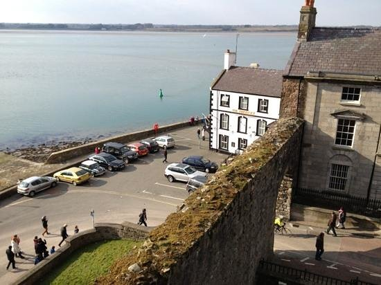 The Anglesey Arms Hotel : The B&B from the top of Caernarfon castle!