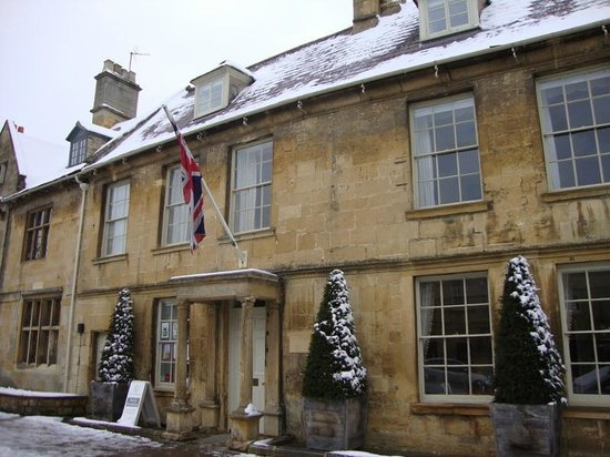 External of Seymour House in the snow