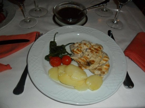 La Pacheca : Roasted chicken with Mushroom sauce