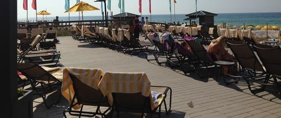 Hilton Sandestin Beach, Golf Resort & Spa: better get your towel and chair early, or they will all be taken.