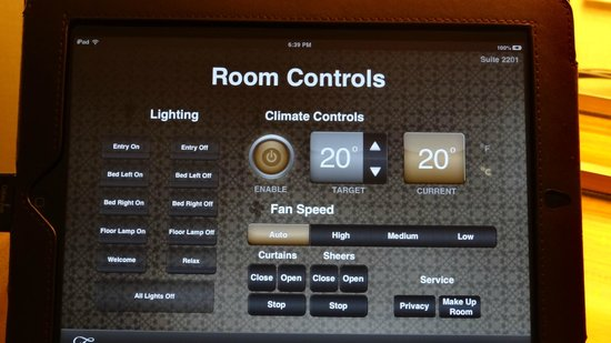 Fairmont Pacific Rim: The iPad to control the room