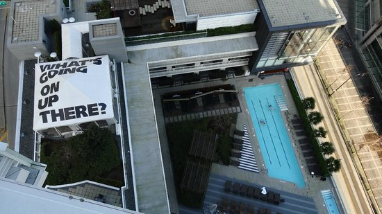 Fairmont Pacific Rim: The pool from above