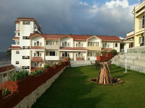Ooty - Elk Hill, A Sterling Holidays Resort: B-block from play area lawn (prep for bonfire)