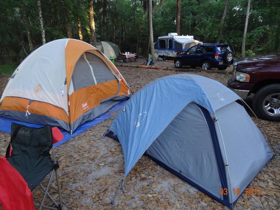 Hillsborough River State Park: Ample Tent Site