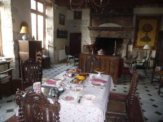 Manoir de Kerdanet : La pièce réservée aux chambres d'hôtes