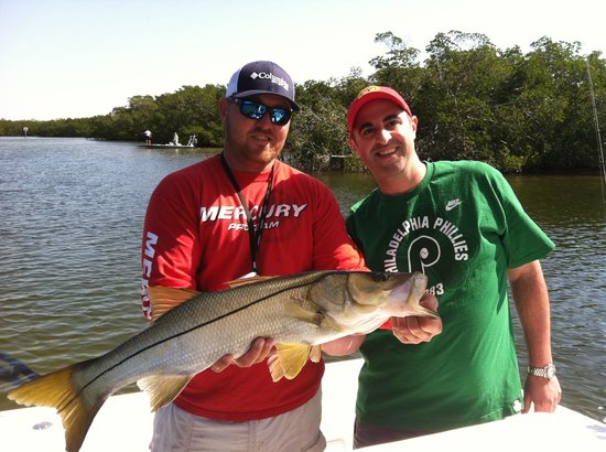 Steady Action Fishing Charters: Jason and Camillo with a NICE Snook!