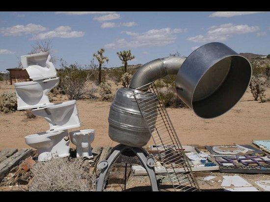 Outdoor Desert Art Museum of Assemblage Sculpture: found art