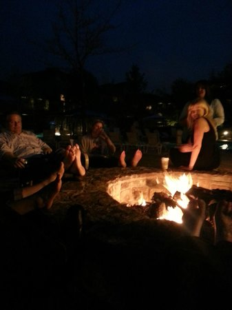 The Woodlands Resort: Fire pit relaxation