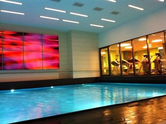 Pullman Berlin Schweizerhof: La piscinee et la salle de fitness. :)