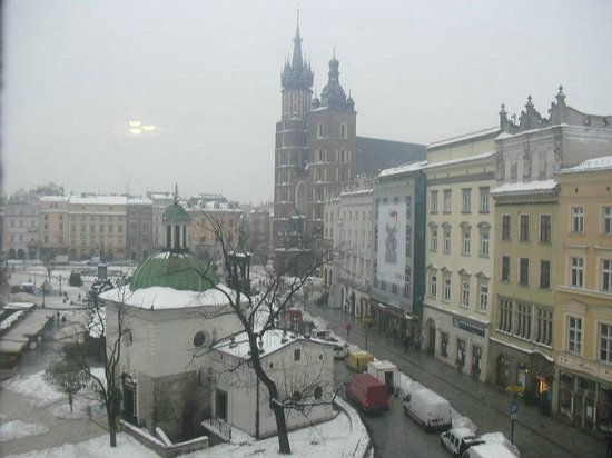 Cracow Hostel: View from the room (private twin room)