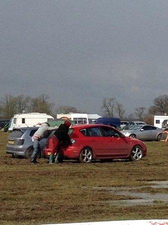 Santa Pod Raceway: mud glorious mud