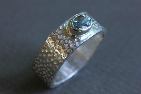 DeLong Studio: Aquamarine Ring