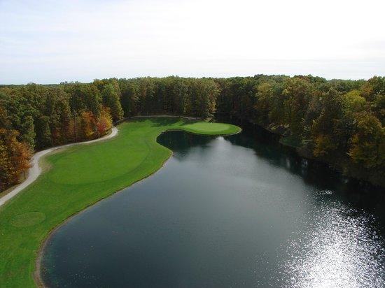 The Inn at Oak Terrace: Signature hole on Oak Terrace Golf Course