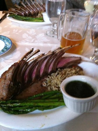 Rack of Lamb at the Blue Lion - Amazing!