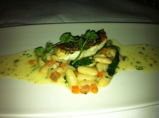 BRABO Restaurant : Sea Bass over Beans