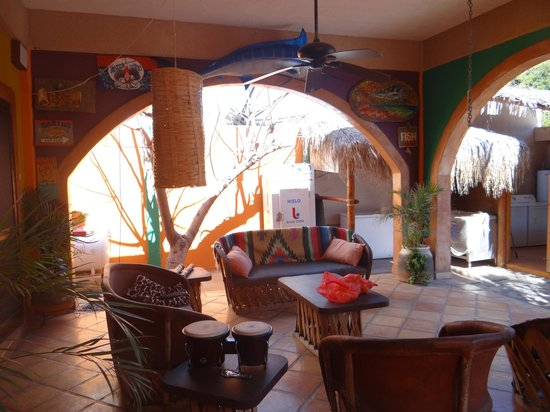 Leo's Baja Oasis: Leo's, view of patio off master bedroom