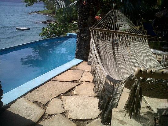 Estancia de la hamaca en la terraza privada...Hotel Selva Azul