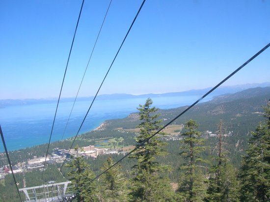 lake tahoe on the way up to heavenly summit