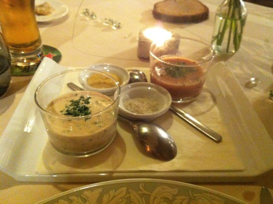 Auberge De L'ecole : Sauces for the Tete de Veau